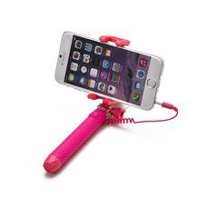 Снимка от Мини селфи стик с кабел, розов - Celly