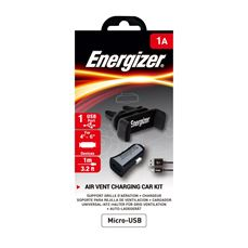 Снимка от Комплект стойка и зарядно за автомобил с Micro USB кабел, 1xUSB, 1A - ENERGIZER