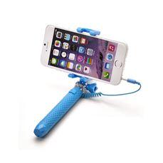 Снимка от Мини селфи стик с кабел, син - Celly