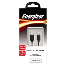 Снимка от Кабел USB-C / Micro USB, 1.2м. - ENERGIZER