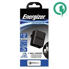 Снимка от Мрежово зарядно с USB-C кабел, 1xUSB, QC3, 18W - ENERGIZER